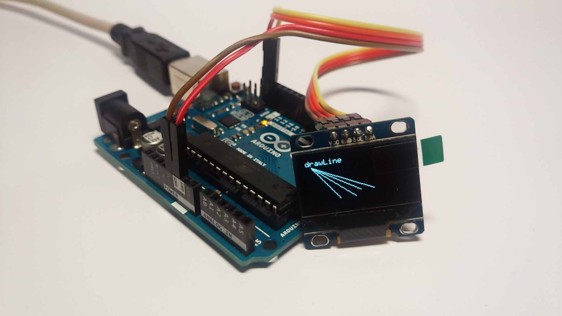 I2C通信の超小型有機EL(OLED)をArduinoで試してみました。