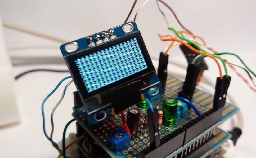 I2C極小OLED(有機EL)SSD1306をArduinoでライブラリを使わずに動作させてみました