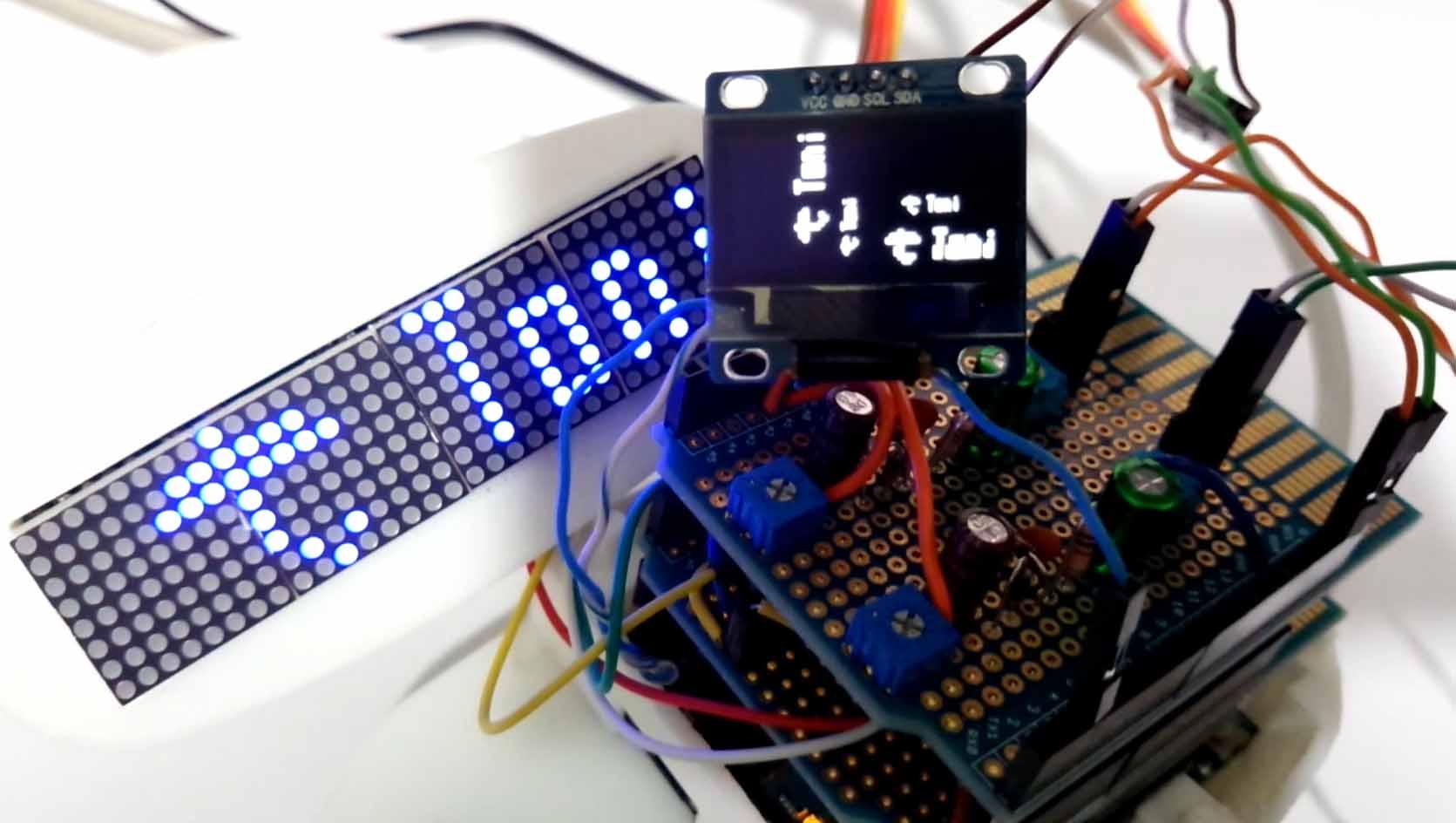 I2C極小OLED(有機EL)SSD1306に気象庁の天気予報を表示する実験