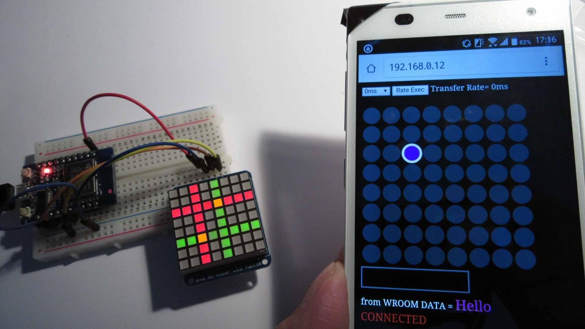 Adafruit Bi-Color LED マトリックスをブラウザで WebSocket コントロール してみた