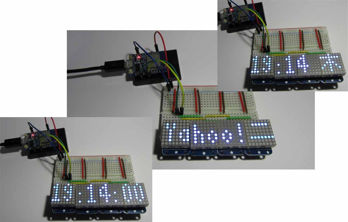自作LED電光掲示板に Yahooニュースや 天気予報 を表示させ、さらに NTP 時計機能追加しました