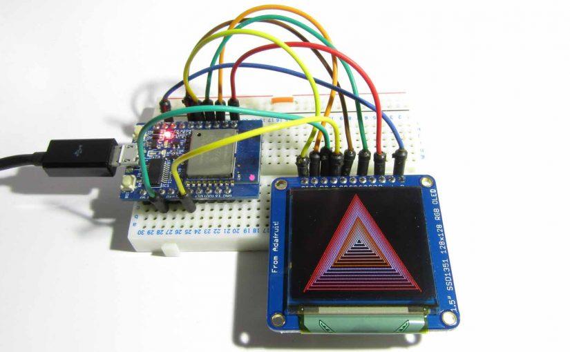 Adafruit 16-bit フルカラー OLED ( SSD1351 ) を ESPr Developer ( ESP-WROOM-02 ) で動かしてみた