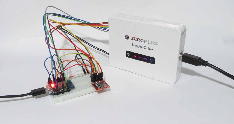 ロジックアナライザー ZEROPLUS LAP-C を使ってみた ( SDカードの SPI クロック測定等 )
