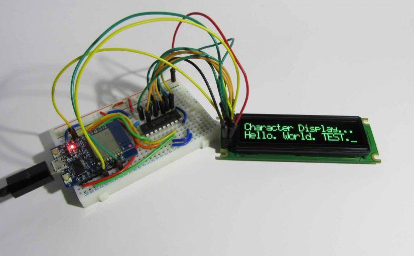 ESP-WROOM-02 ( ESP8266 )の GPIO を増設して キャラクタディスプレイ 8bitモード制御してみた