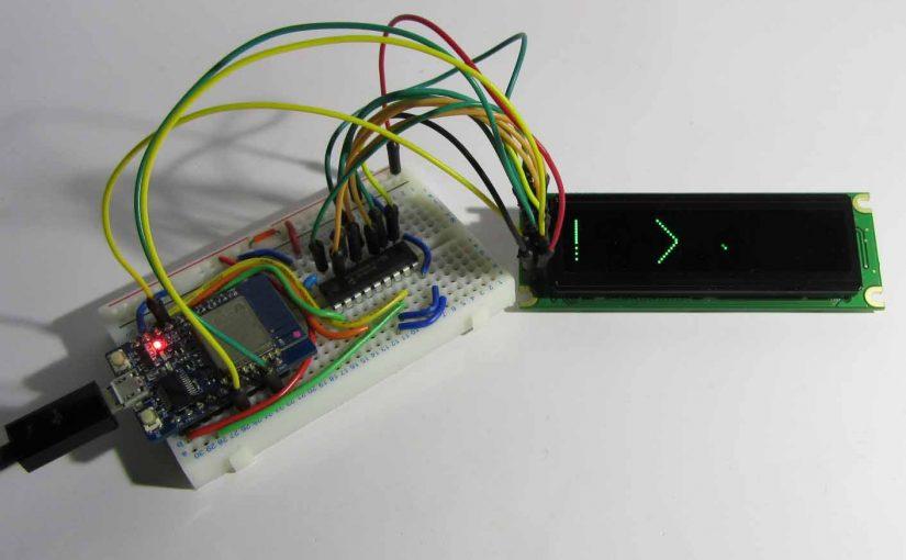 GPIO 増設した ESP-WROOM-02 ( ESP8266 )で、8bitモードのグラフィックディスプレイ を制御してみた