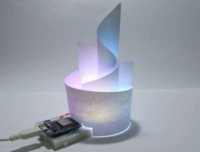 NeoPixel と紙で フルカラー LED イルミネーション オブジェを作ってみた