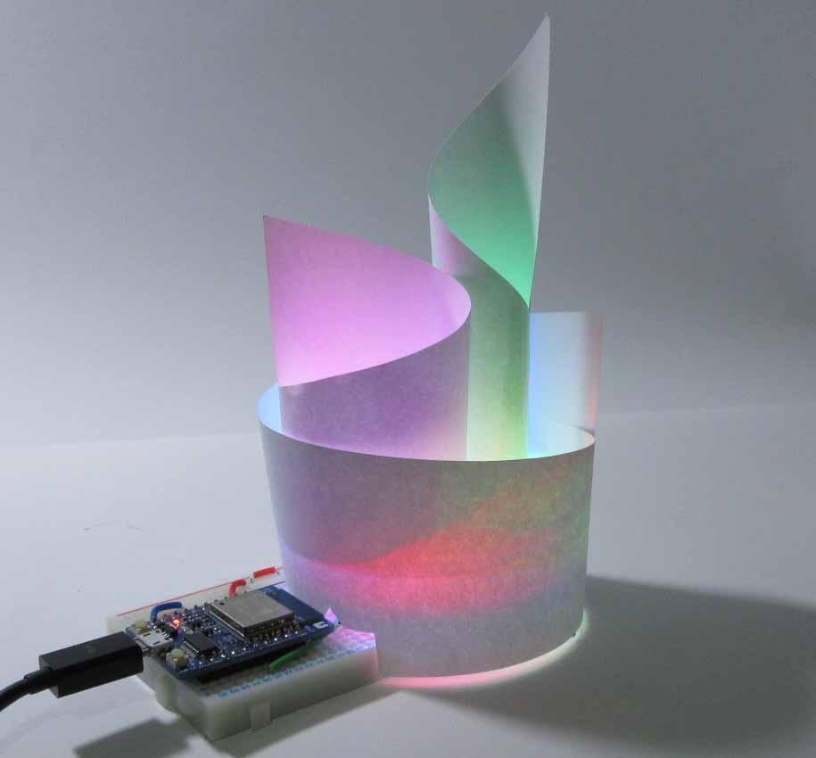 ESP8266, NeoPixel & Paper LED Illumination Object