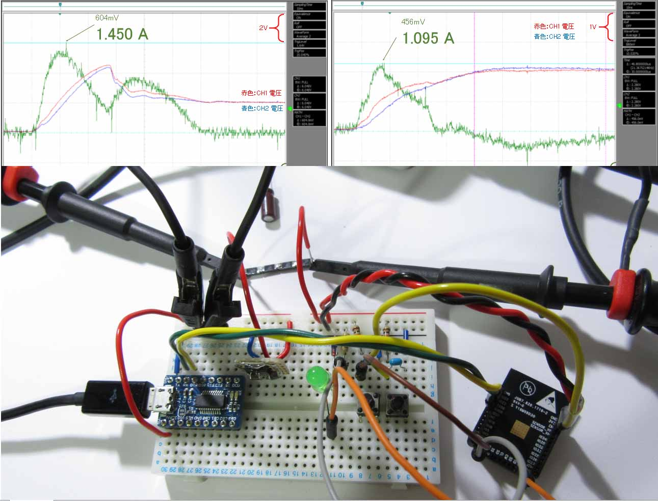 ESP-WROOM-32 ( ESP32 )の消費電流を電流プローブ無しで測定してみました