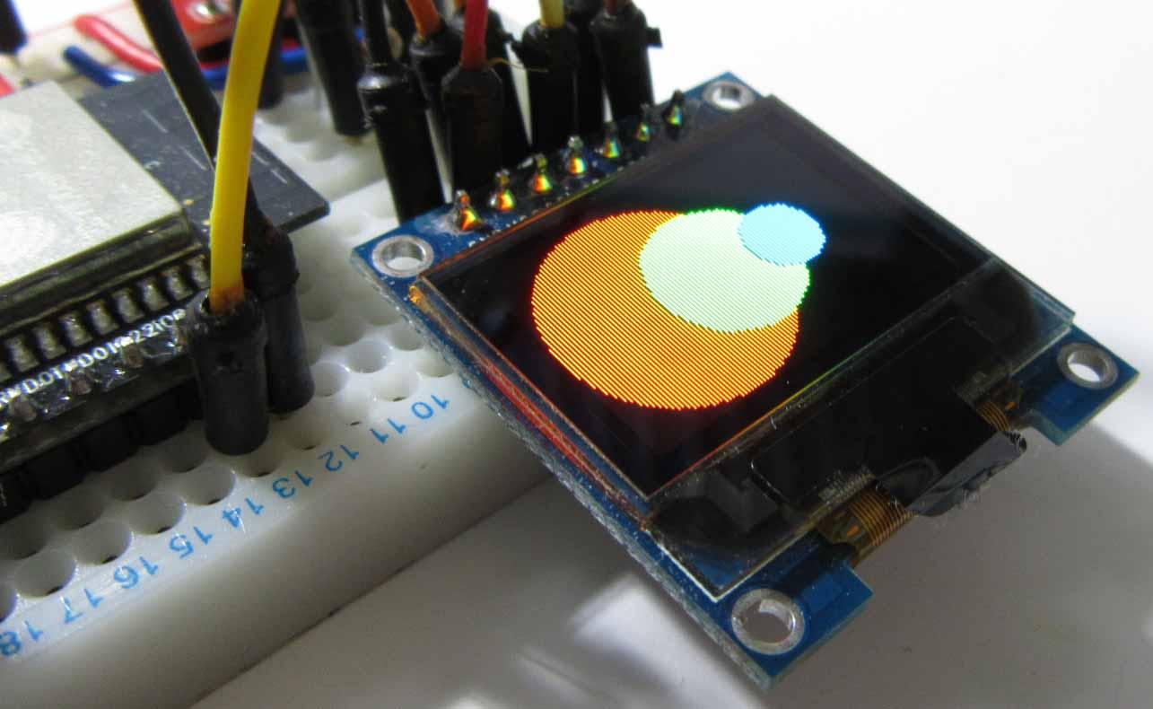 有機EL ( OLED ) SSD1331 ライブラリを作成しました ( ESP32 用 )