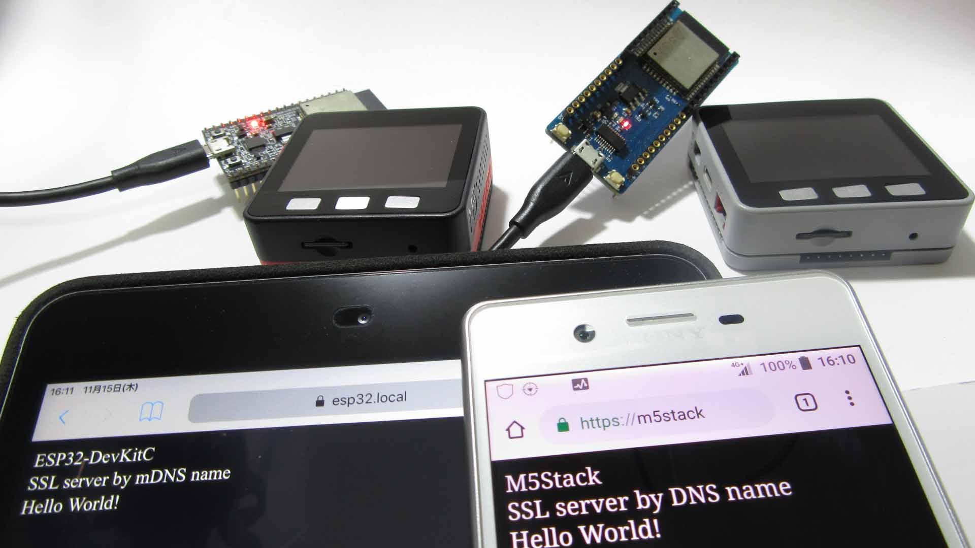 ESP32 および M5Stack で DNS および mDNS の SSL server を作ってみた