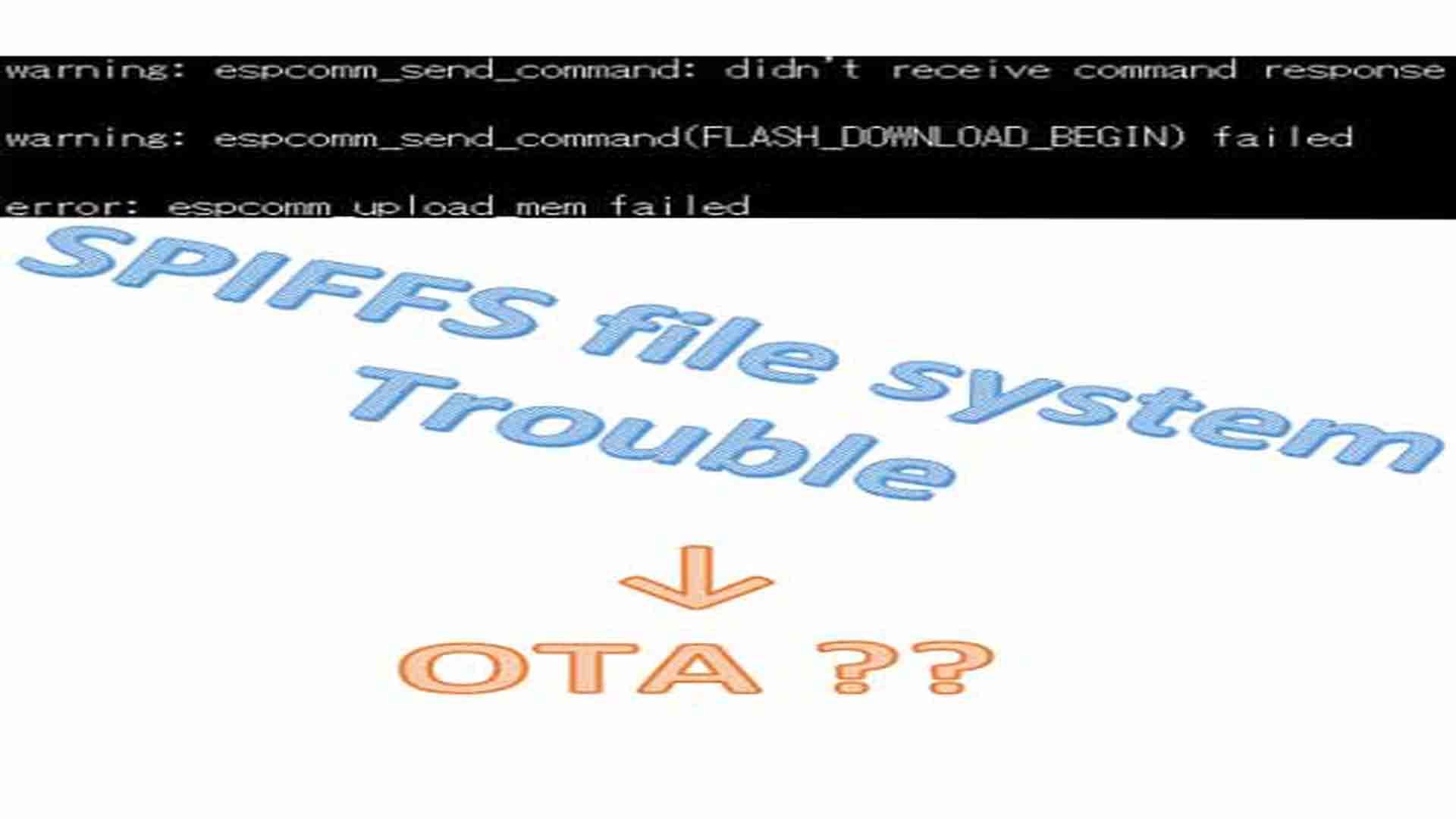 4M ( 3M SPIFFS ) をシリアルポートでアップロードできない場合のトラブルシューティング( ESP-WROOM-02 ESP8266 )