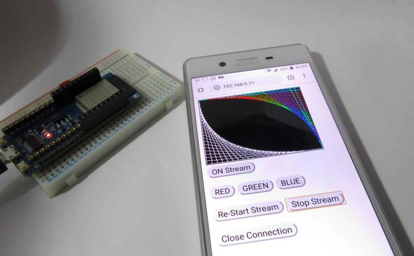 ESP32 でビットマップ画像を生成し、Motion JPEG でブラウザに動画ストリーミングさせてみた。
