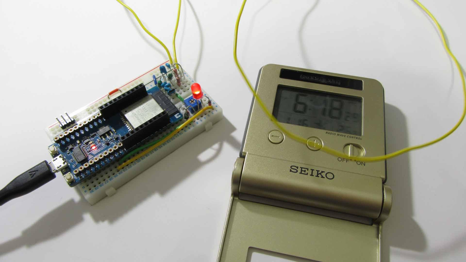 ESP32 を使って LC共振回路の理解を深め、電波時計をガッツリ合わせてみる実験