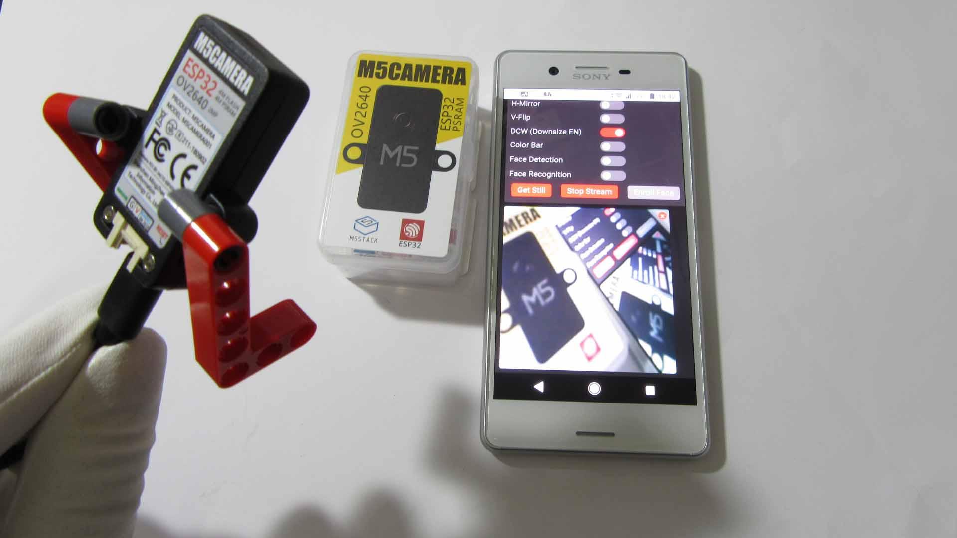 M5Camera をレビューしてみた。分解したり、Arduino IDE でスマホに映したりする実験