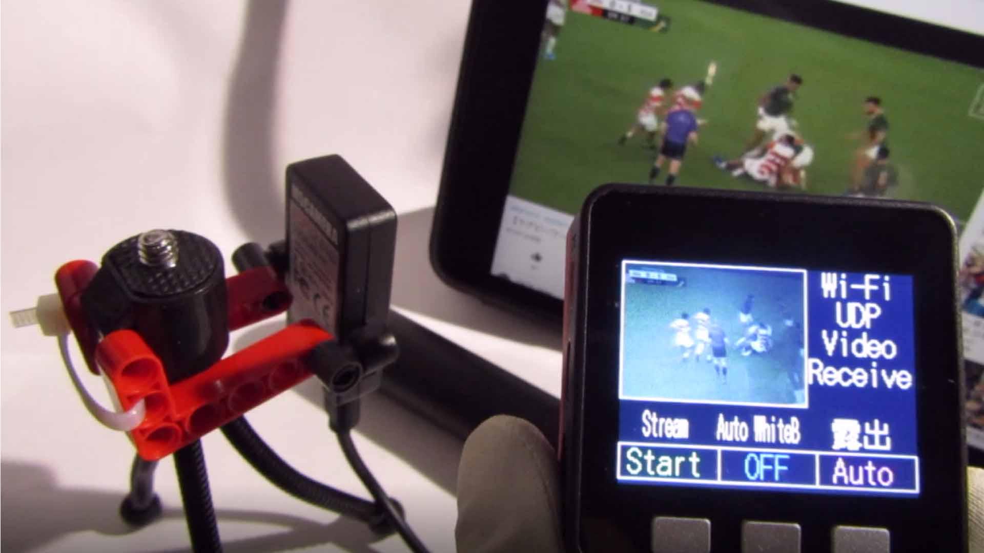 M5Cameraの動画をM5StackへWiFi, UDPで送信する実験
