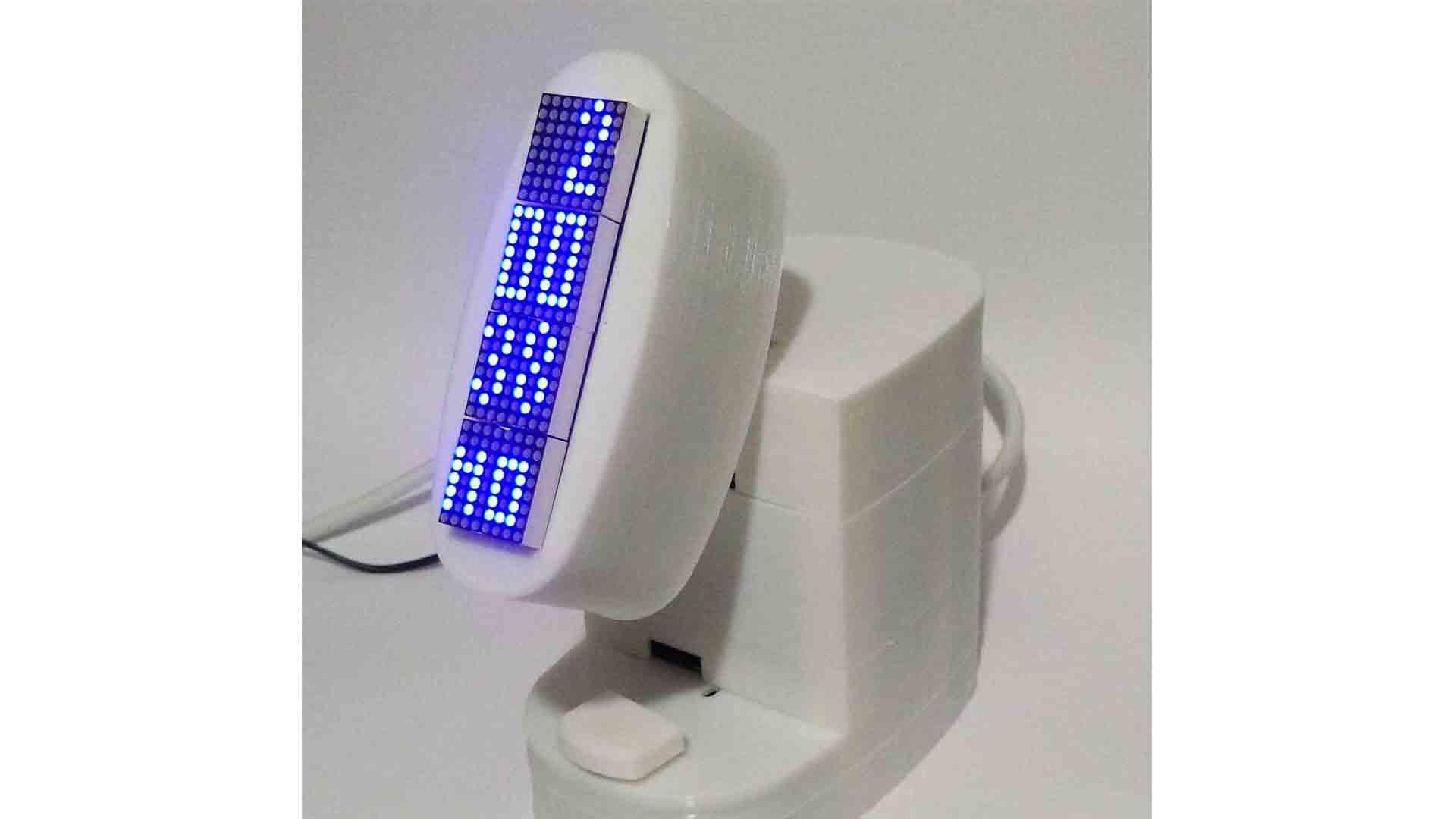 つづき、Arduinoタイマー付きLED電光掲示板 試作完成 その3