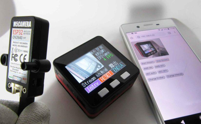 M5StackとM5CameraをWiFi TCP/IP でMJPEG動画ストリーミングする実験