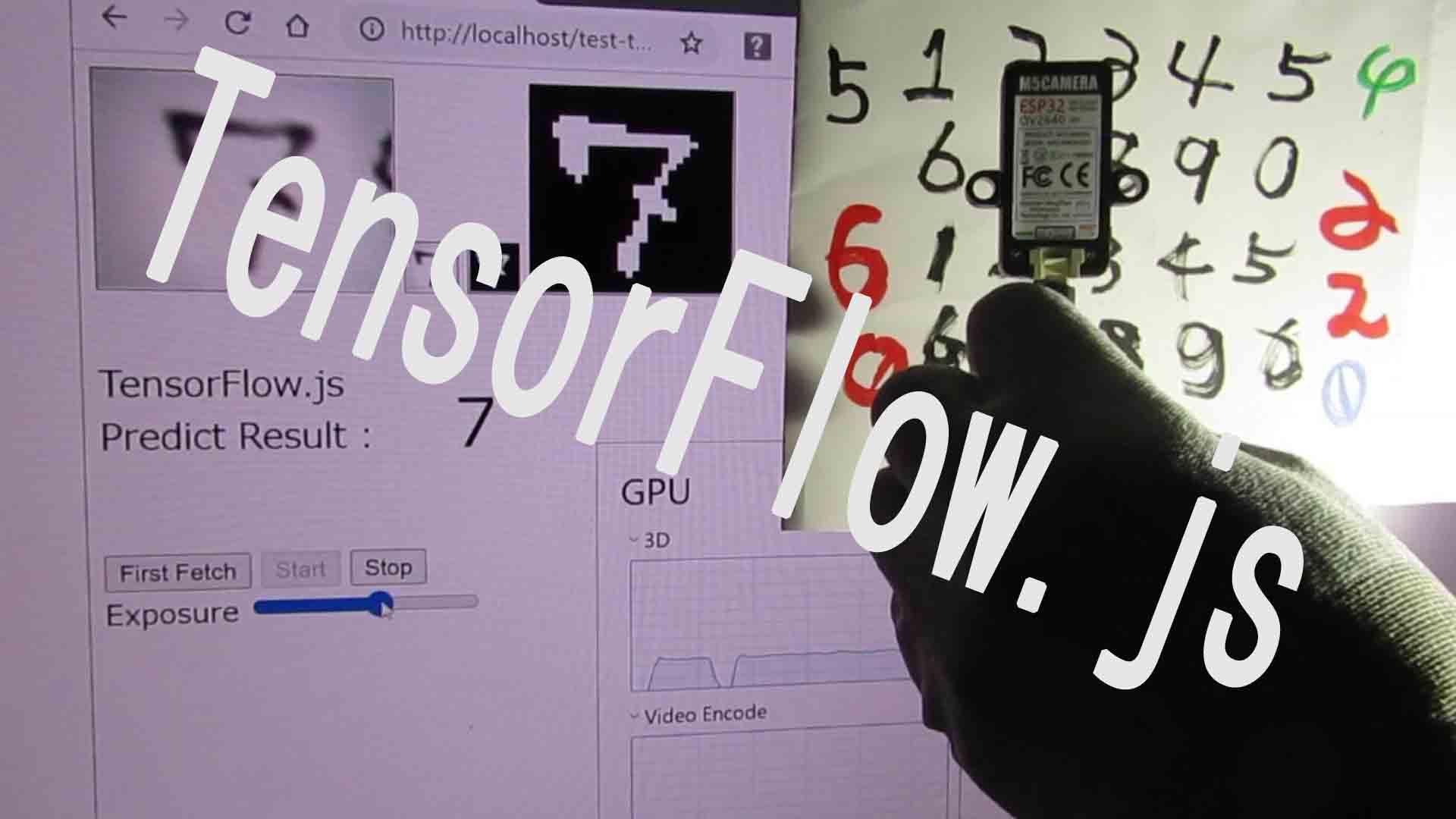 TensorFlow.jsを使ったリアルタイム推論(M5Camera使用)