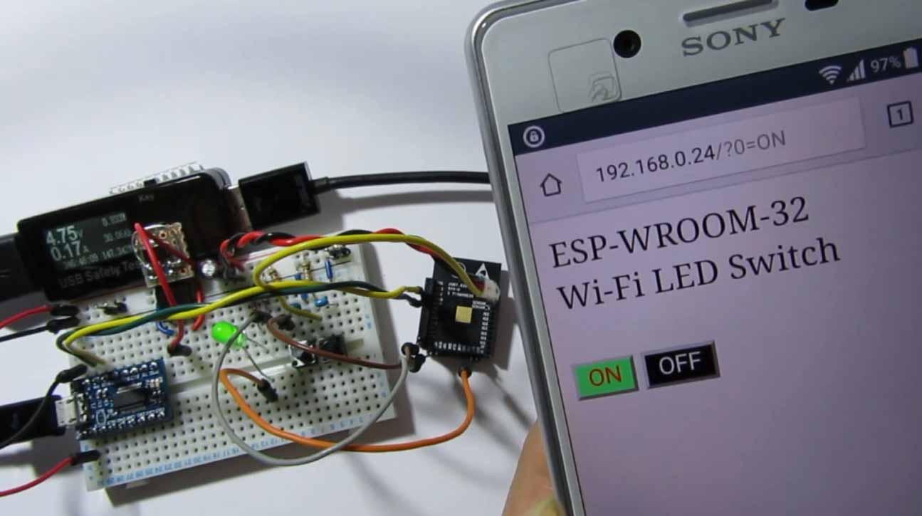 ESP-WROOM-32 ( ESP32 ) で Wi-Fi スマホ LED スイッチ作り